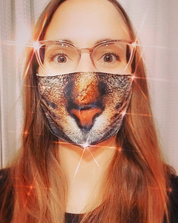 #IWearAMaskBecause I don't want to fight any more than I have to. Plus, they make some purretty cool animalistic ones! Not to mention, if I'm wrong, and/or asymptomatic, I don't want to be responsible fur someone else's battle with #Covid19, let alone death, you kmeow?   #COVIDAB