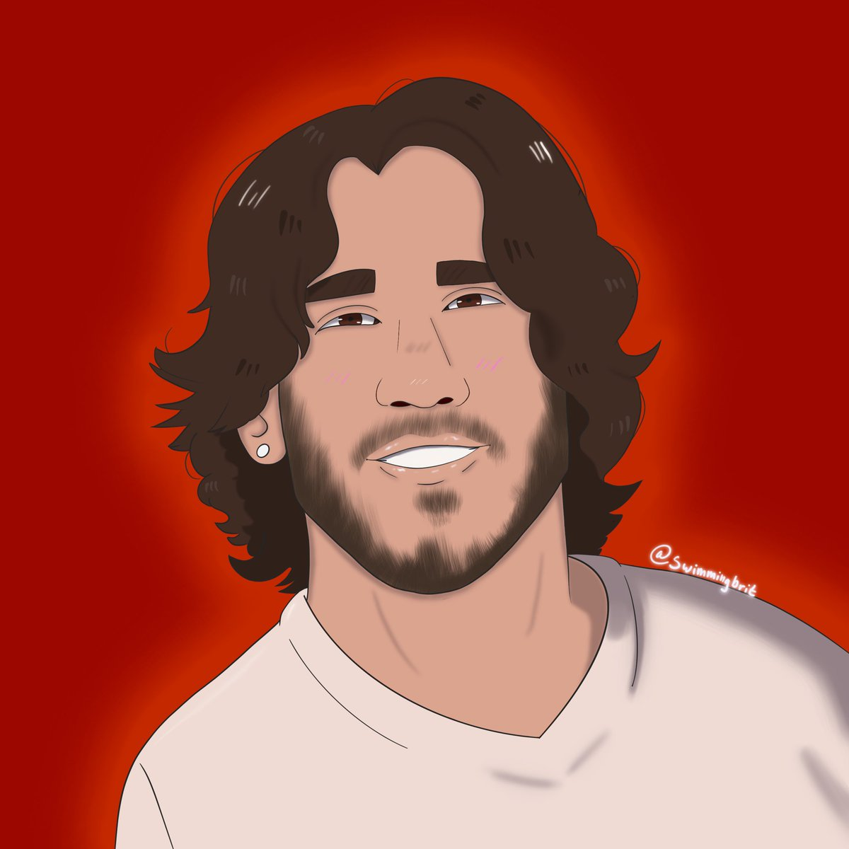 So happy to hear that @markiplier is back at home and feeling well. I wanted to do something nice, and so I drew him. Hope you like. #GetWellSoonMark #markiplier