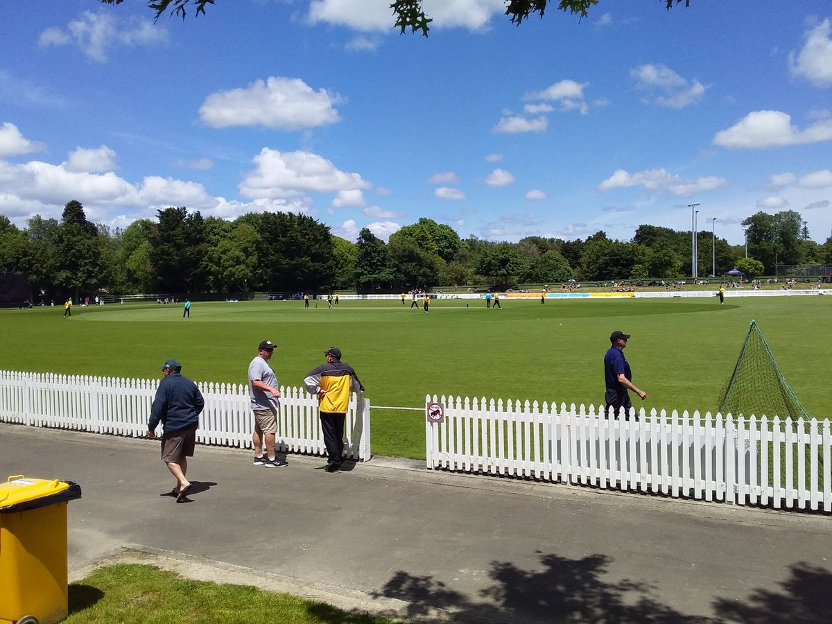 I'm at Fitzherbert Park, Palmerston North for a 50 over game between Central Districts and Wellington