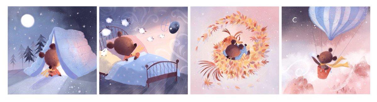 "Illustrations for the mobile app ""Saga sleep"" 🌟  #art #creation #illustration #drawing #illustrator #sketch #artwork #painting #sketchbook #artist  #digitalart #digitalillustration  #childrenillustrations #Procreate  #procreateart"