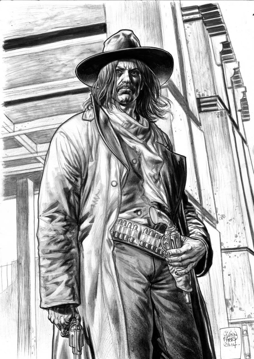Some @2000AD cover pencils from a few years back. What you lookin' at?  #art #western #sketching #Pencildrawing #pencilart #cover #drawing