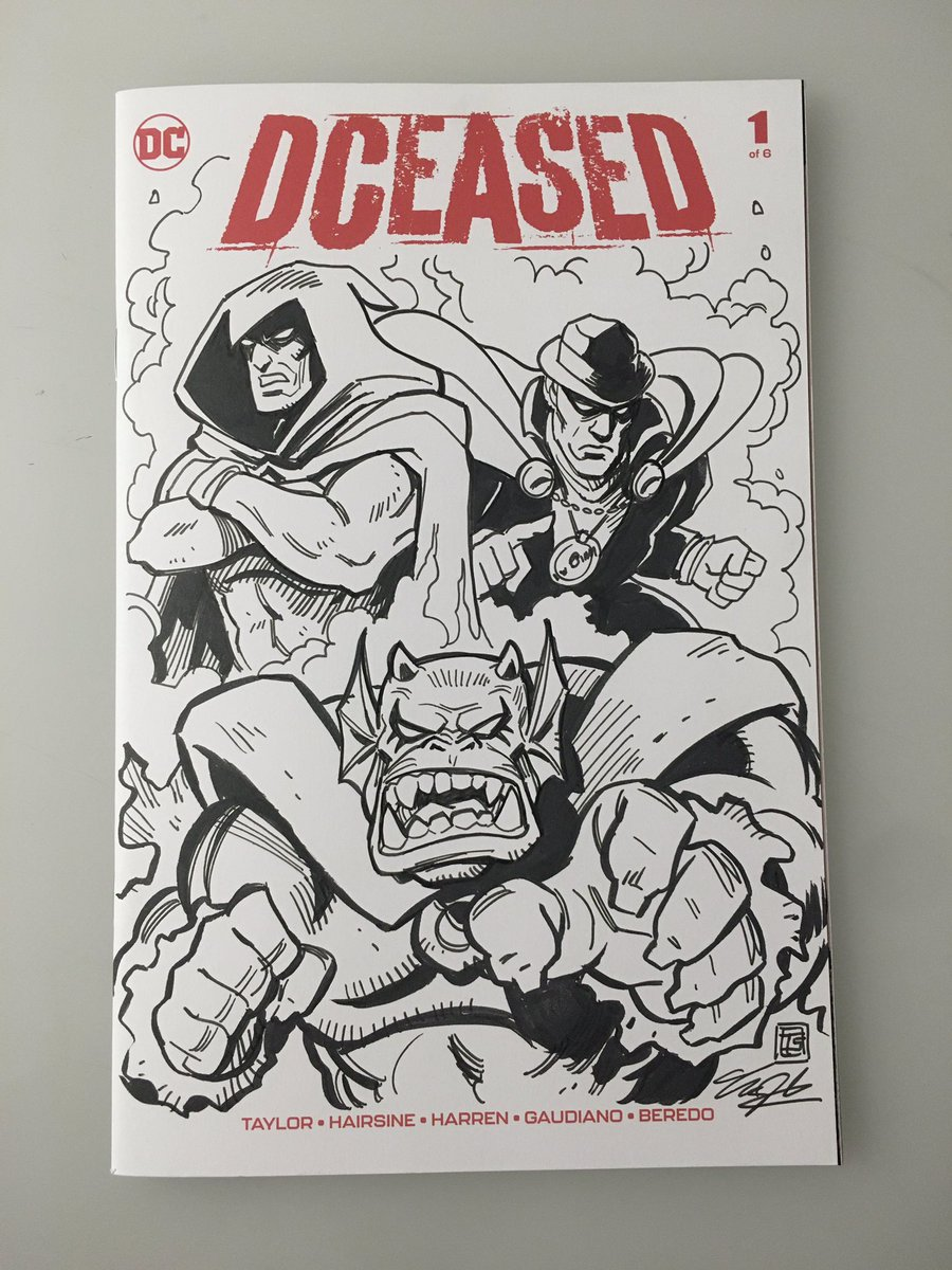 Inking commissions and watching movies with the kids. Here's A DCeased sketch cover. Colors coming soon. Message me today if you want to get on my commission list. #commissionsopen #ink #drawing #wip #workinprogress #sketchcover #dceased #demon #etrigan #spectre #phantomstranger