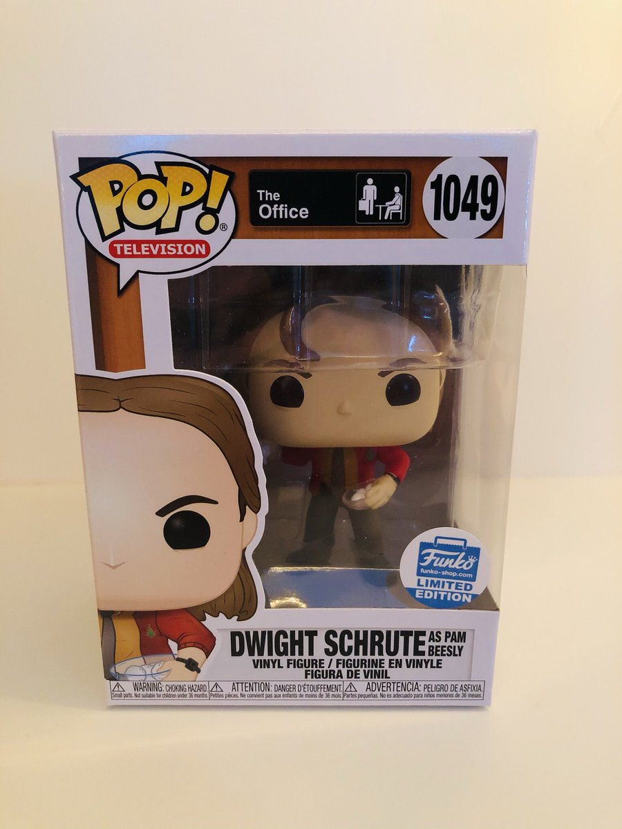 I have an extra Dwight as Pam Beesly Funko Pop if anyone is interested! DM me for price!  #TheOffice #DwightSchrute #PamBeesly #Funko #FunkoPOP #FunkoPOPNews