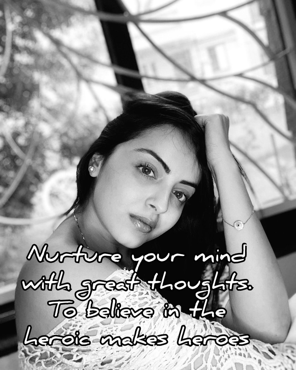 Nurture your mind with great thoughts. To believe in the heroic makes heroes #ShrenuParikh  @shrenuparikh11  #sundayvibes