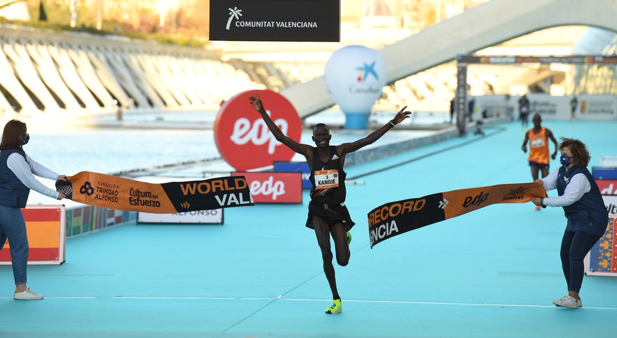 Make a little more room in the 2020 history books. Kibiwott Kandie is now the half marathon World Record holder.  ⏱ 57:32  👟: adizero adios Pro