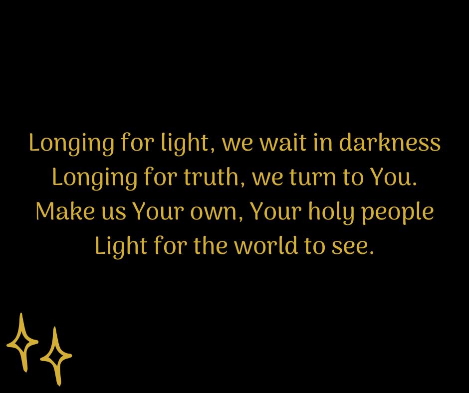 #SundayHymn for #Advent lyrics from Bernadette Farrell