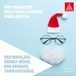 Image for the Tweet beginning: Schönen #Nikolaustag! #WirmachenTarifverträge #IGMetall #Ingolstadt