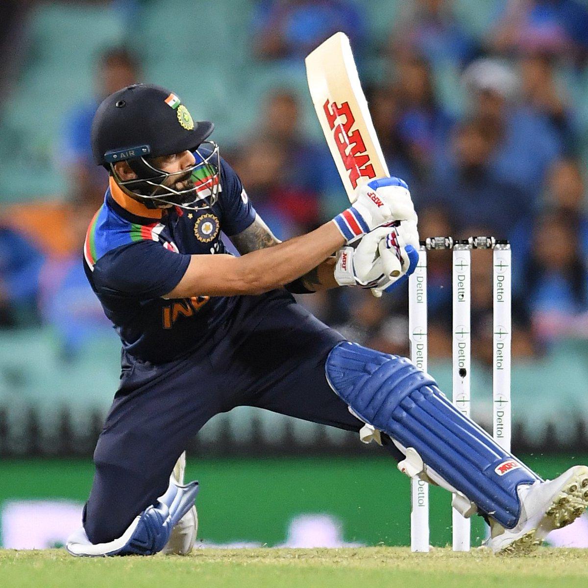 Virat Kohli or AB de Villiers? 🤯  Ridiculous shot from the Indian skipper! #AUSvIND