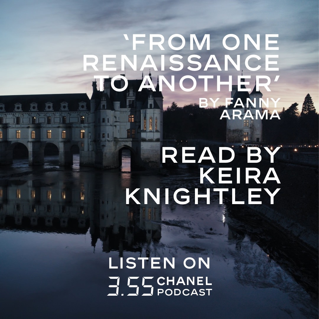 Listen to the House ambassador Keira Knightley read  in English an extract from a text written by Fanny Arama about the inspiration and the backdrop to the 'Le Château des Dames' 2020/21 Métiers d'art show. #CHANEL #CHANELMetiersdart Listen on