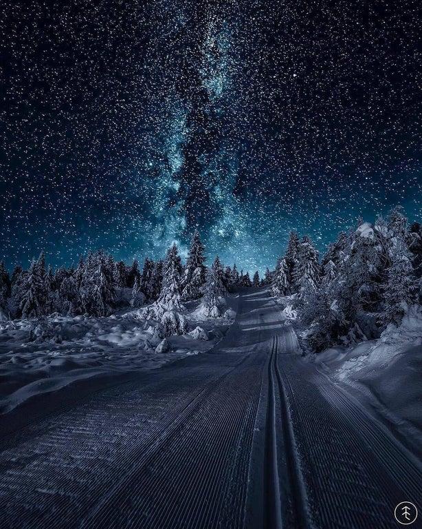 Night skiing in Norway