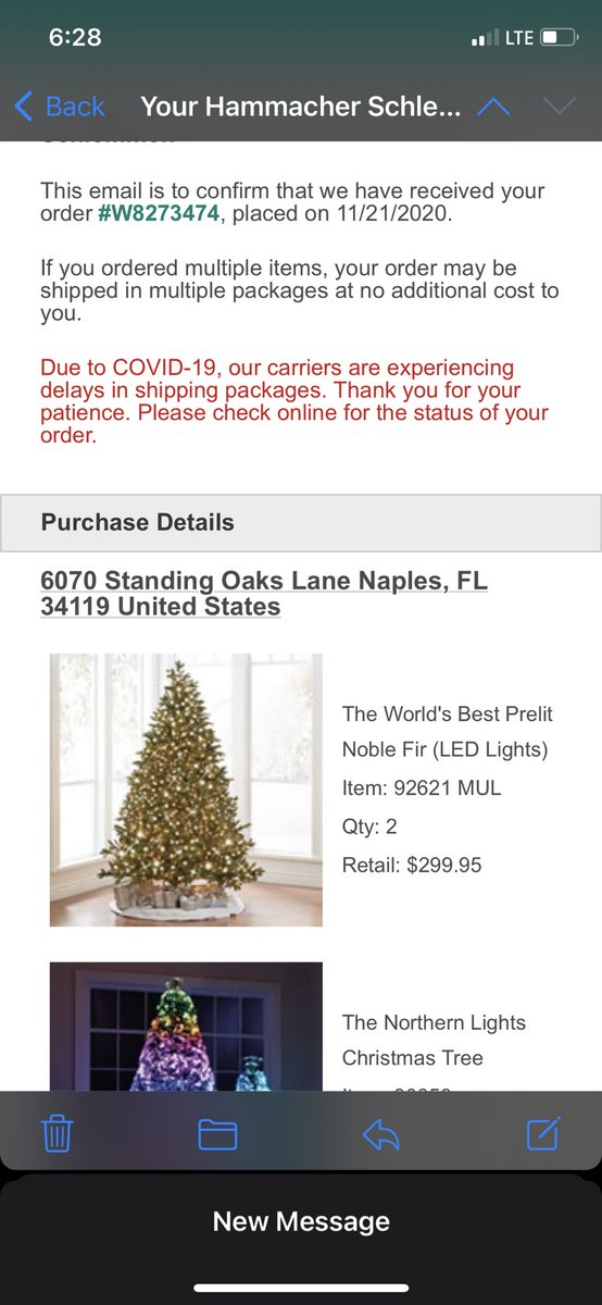 @Hammacher caution; items ordered and paid for may be cancelled without notice - customer service will dance around the issue without resolving. #onlygotone #charliebrowntree #RockCenterXmas #cancelled #nohelp #nonotice #hammacher