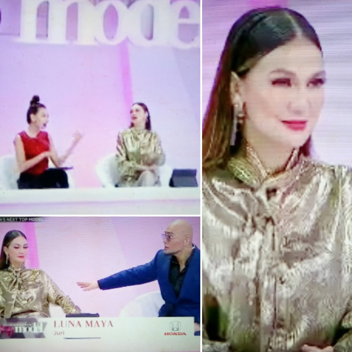 Always beautiful @LunaMaya26 😍 di Indonesia's Next Top Model @netmediatama comentar @corbuzier ok juga dan ada petuahnya....mantap👍 #indonesiasnexttopmodel #lunamaya