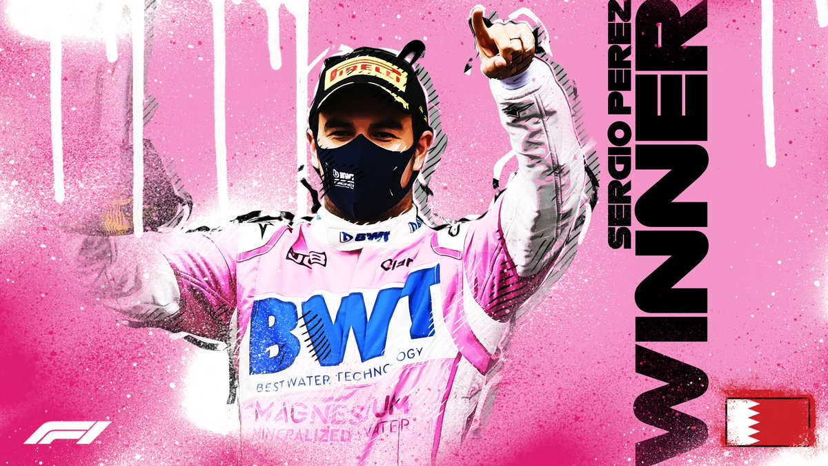 🙌 𝗖𝗛𝗘𝗖𝗢𝗢𝗢𝗢𝗢𝗢𝗢𝗢𝗢𝗢 🙌  Sergio Perez takes his maiden Formula 1 win with an incredible recovery drive! WOW!  #SakhirGP 🇧🇭 #F1 https://t.co/o9tGmzNiLq