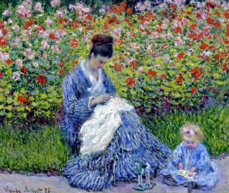 "Olga Tuleninova 🦋 on Twitter: ""Camille Monet and a Child in the Artist's Garden in Argenteuil (1875) Claude Monet… """
