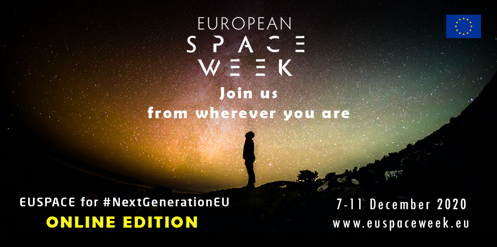 W/ 2k+ registered participants & 35 speakers, the #EUSpaceWeek 2020 has 25 sessions & a virtual exhibition area w/ 50+ booths. From discussions on #EUspace for the #EUGreenDeal, to #SpaceAwards, & 3 plenaries, we'll bring the EUSpace down to🌍& to your📺!