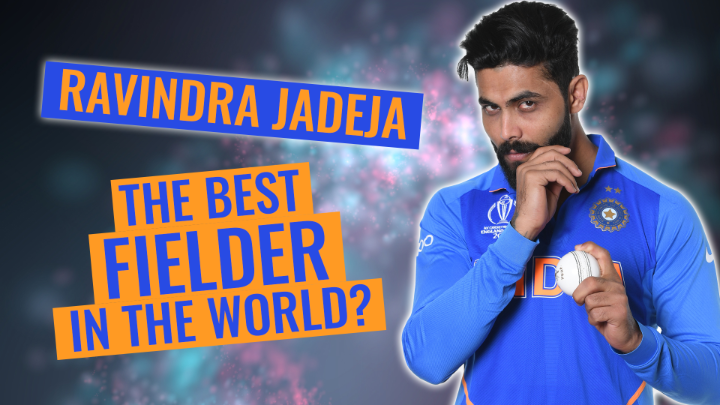 He has a higher ⬆️ batting average and a lower ⬇️ bowling average in Tests than either Kapil Dev or Ian Botham 🔥   And then he fields like this! 🤯   Is there anything Ravindra Jadeja can't do?!