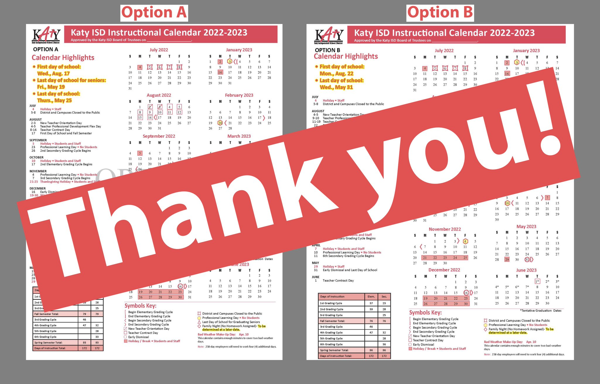 Katy Isd Calendar 2022 2023.Katy Isd On Twitter Thank You To Everyone Who Responded To The 2022 2023 Instructional Calendar Survey The Survey Results Will Be Presented At The Next Regular Board Meeting Katyisd Https T Co Rfwuwfs78t