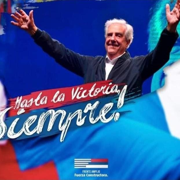 Hoy un día triste, partió, exs Presidente de Uruguay Tabare Vazquez, gracias por darnos tanto vuela alto querido Tabare😢🇺🇾