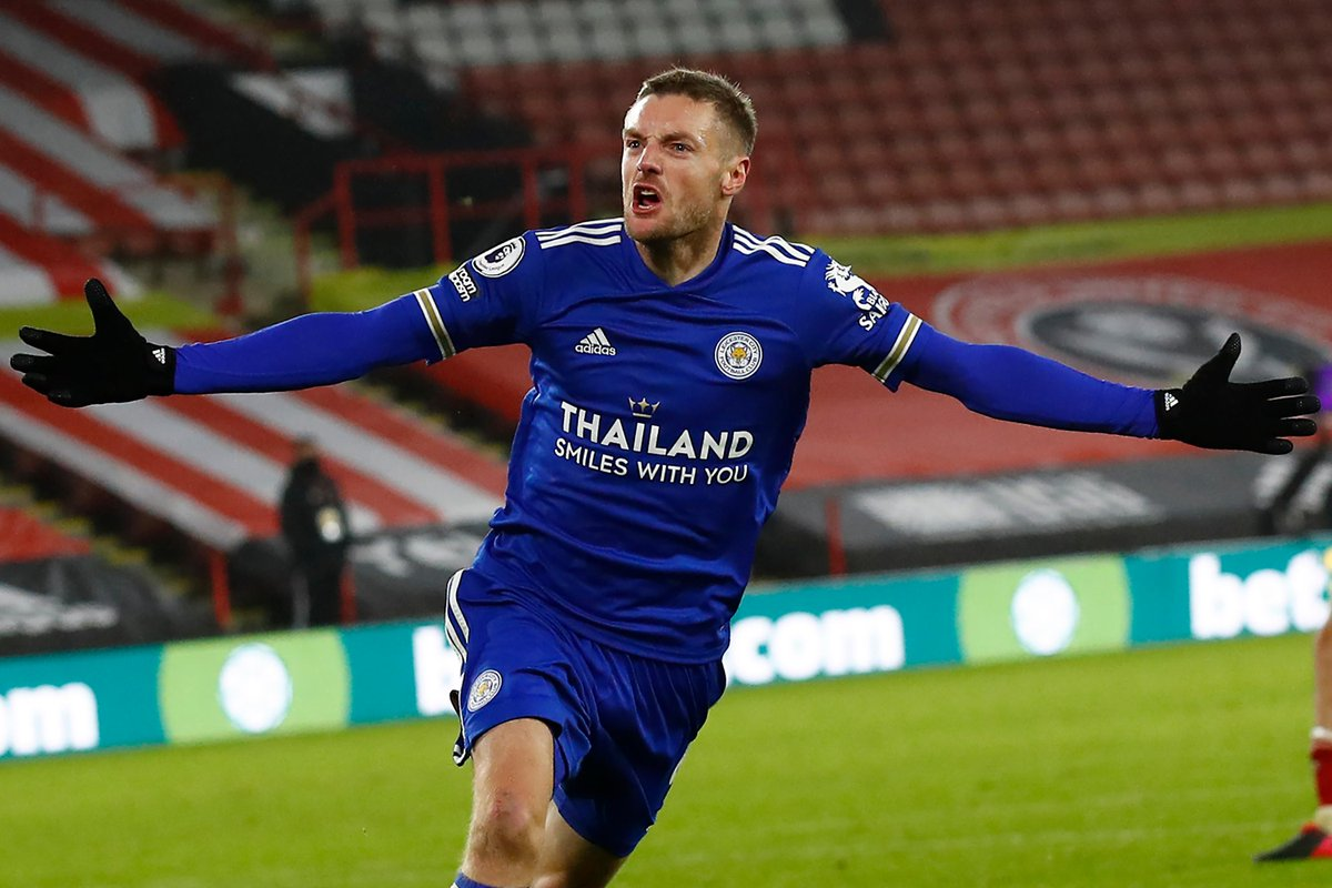 Jamie Vardy is  the third player to score in five consecutive #PL away games in Yorkshire, after Wayne Rooney (2002-2013) and Harry Kane (2014-2020)  #SHULEI