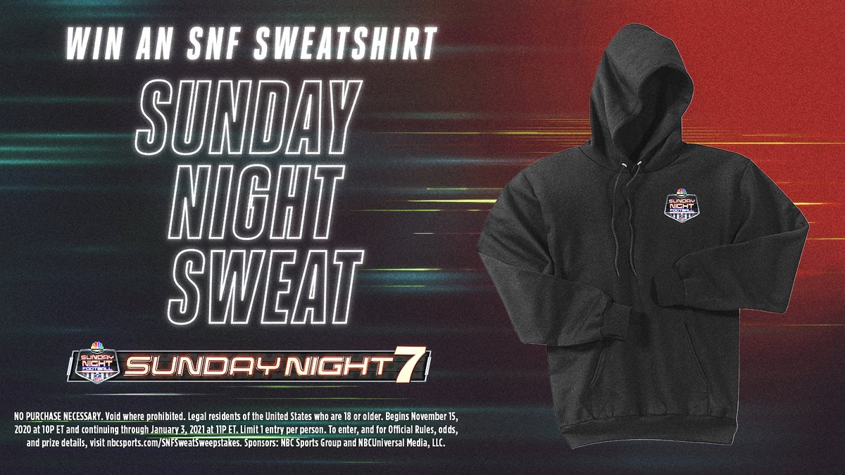 Sweat the 2nd half of Broncos- Chiefs out with us on NBC!   Retweet this tweet for a chance to win an SNF Sweatshirt!  You have 10 minutes before winners are chosen. Good luck. https://t.co/oO7X406VXM