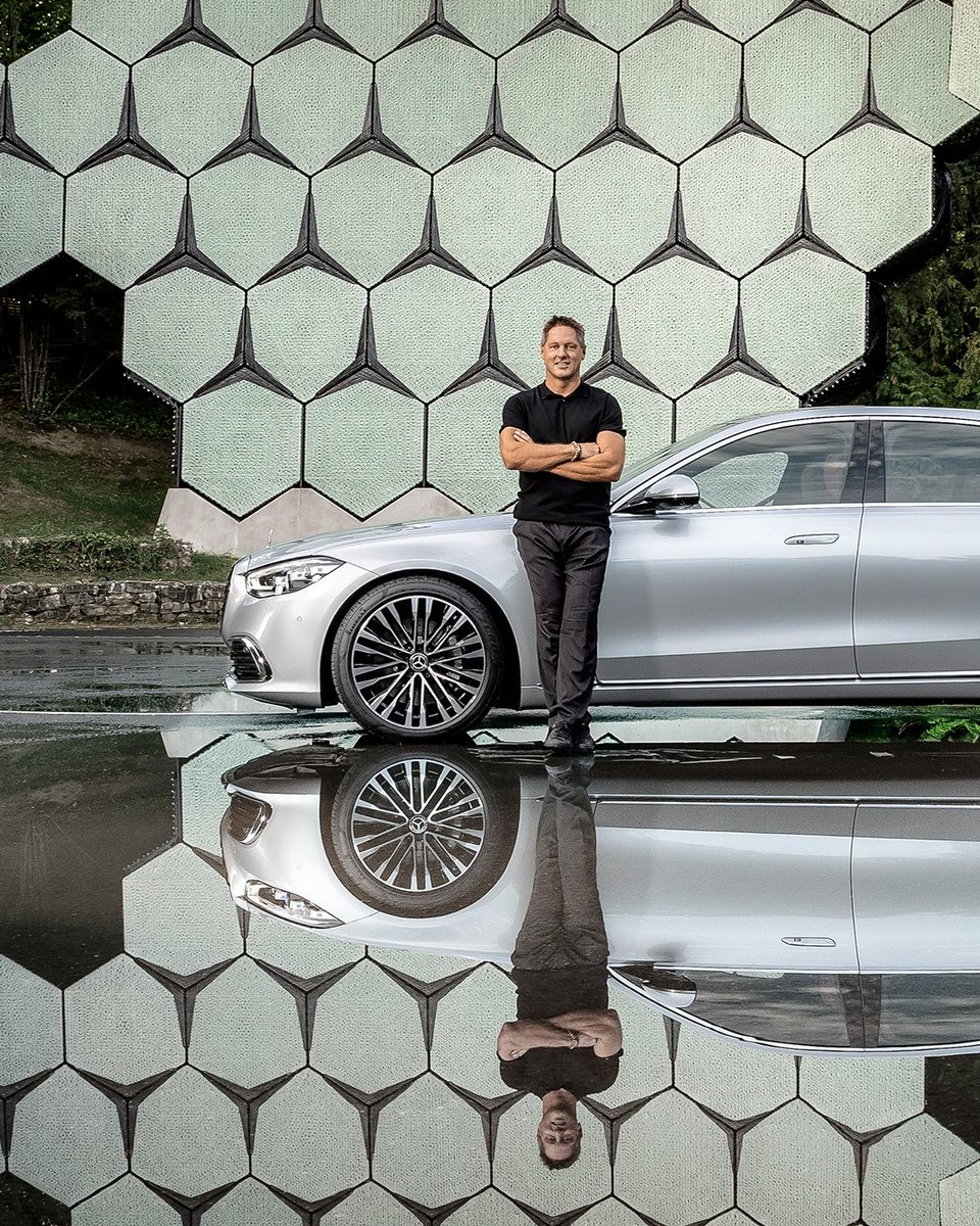 """You might have already noticed the background in some of Gorden Wageners#SClassposts. The """"Outdoor Star Arena"""". It's a sculpture built at our outdoor presentation space.   #MercedesBenz#MBDesign #SClass #TheNewLuxury   #Mercedesof"""