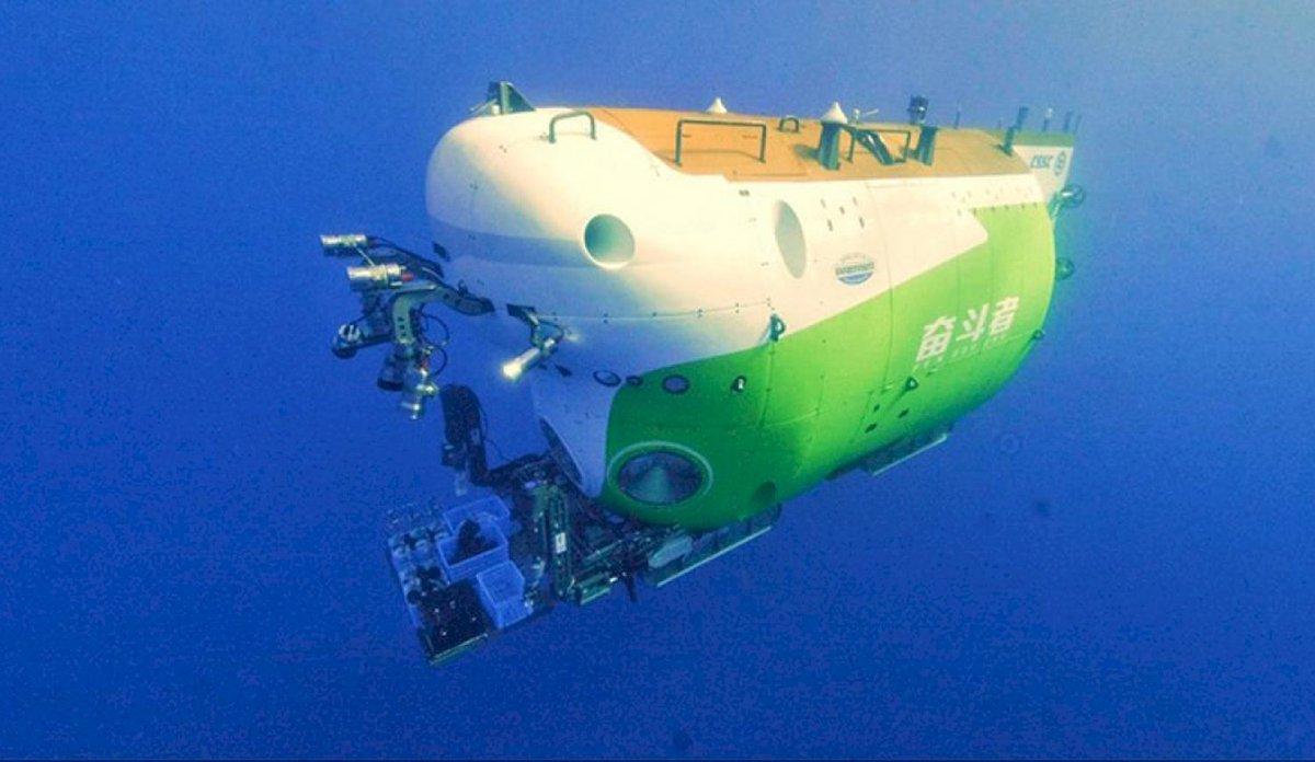 🇨🇳🌎 #China | #Tierra | #Fendouzhe  China llegó al lugar más profundo de la Tierra  El submarino alcanzó los 10.909 metros de profundidad.