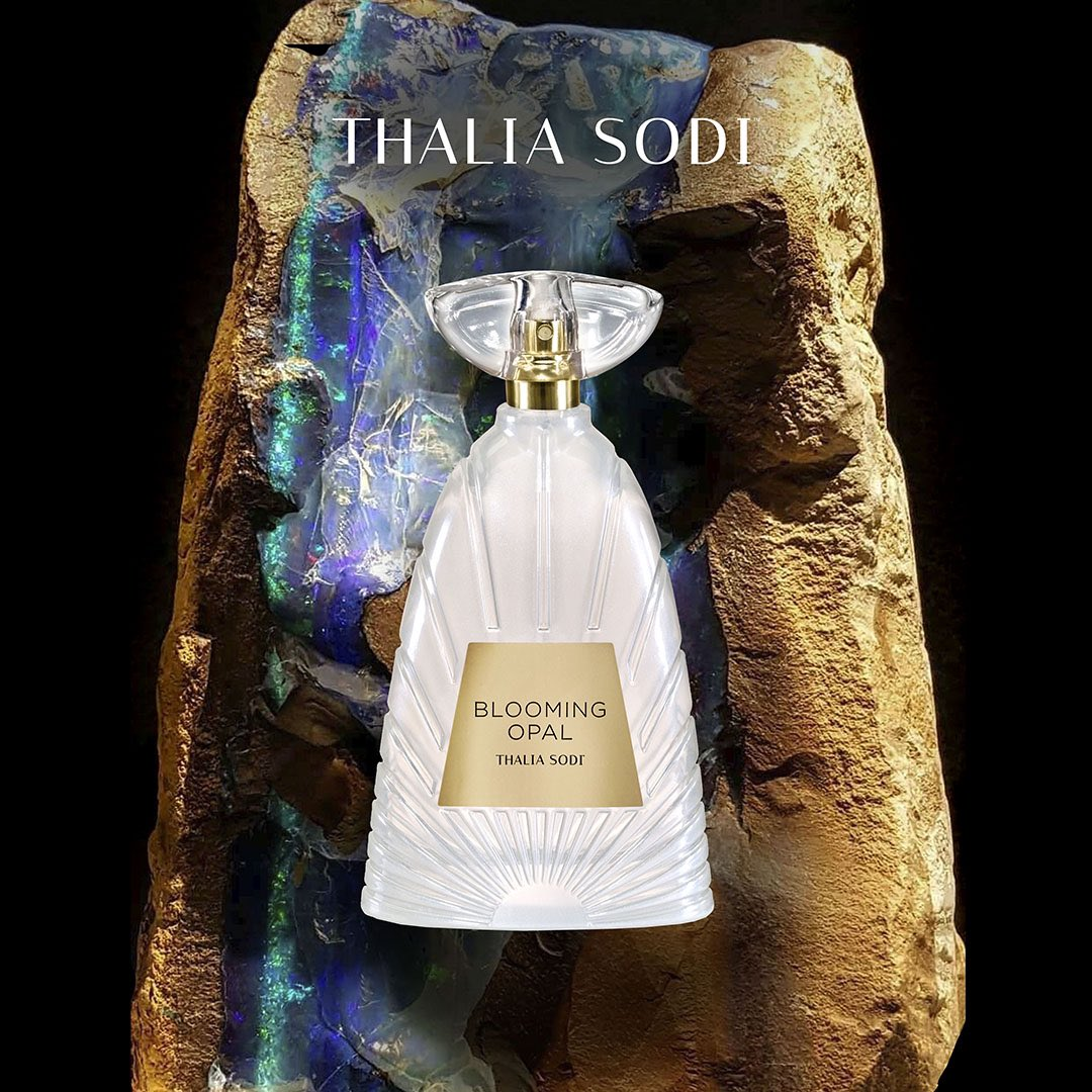 Discover Thalia's Fragrance of the Month – Blooming Opal. With delightful hints of bergamot, gardenia and coconut this fragrance is the perfect scent for the Holidays!🤍🎄➡️  #ThaliaSodiFragrance #BloomingOpal #ThaliaSodiFragranceCollection #womensfragrance