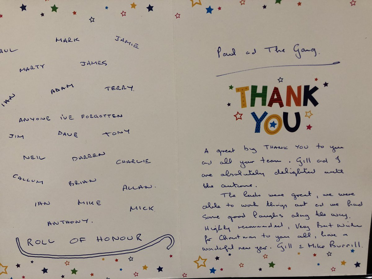 test Twitter Media - Thank You card arrived today from Mr. & Mrs. Burrell. Your very kind, (very good of you to remember everyone's name). #happycustomer #southport #builders @fmbuilders @nfbuilders https://t.co/imqnYl2OMi