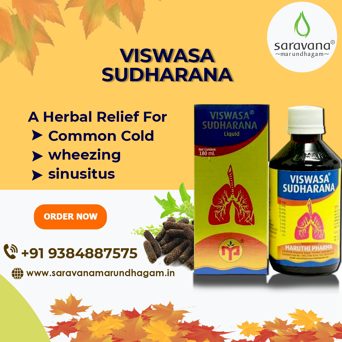Suffering from Cough and Cold? Get Instant Relief from cough and cold with Viswasa Sudharana an Ayurvedic Health Supplement. For Orders Call - 9384887575 or Visit -  #viswasasudharana #mondaythoughts #cough #cold #WINTER #Herbal #ayurvedaday #chennai
