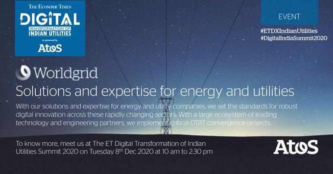 #Atos will be at #ETDXIndianUtilities, #DigitalIndiaSummit2020 on Tues 8th Dec 2020...
