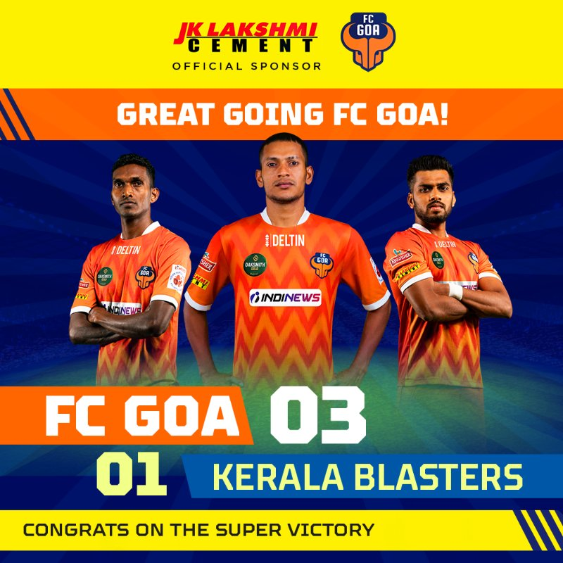 With goals from Angulo and  Mendoza, @FCGoaOfficial  cinched a killer victory against the Blasters! Here's to more such victories in the coming matches.