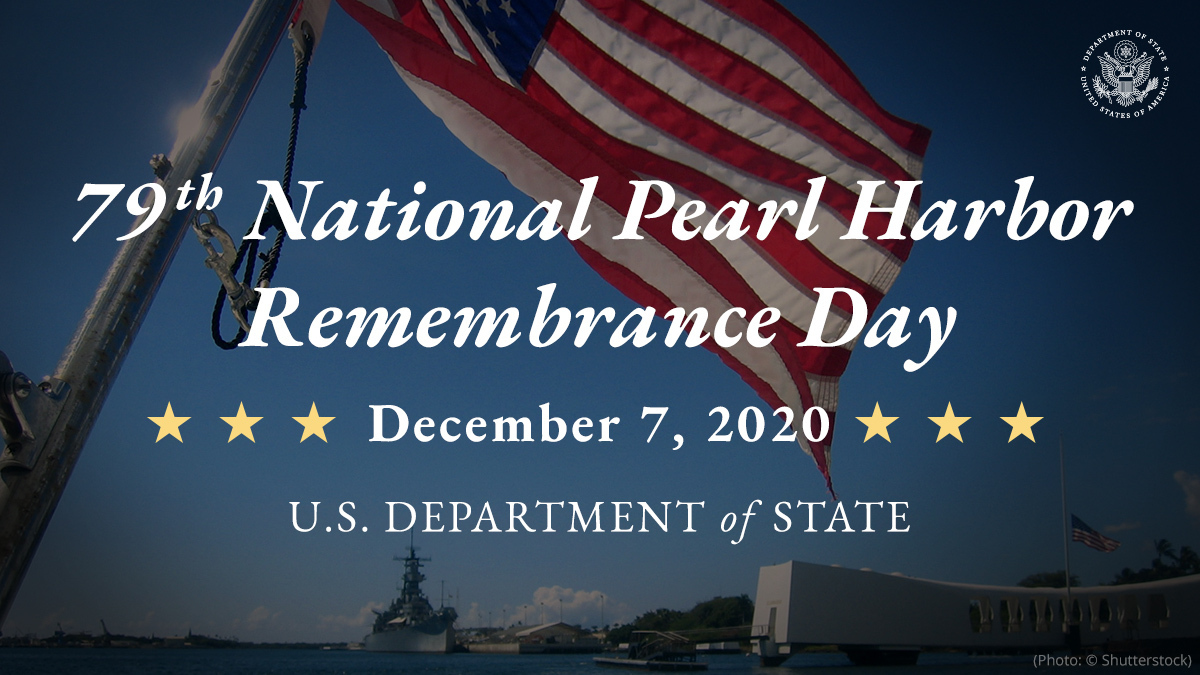 Today is Pearl Harbor Remembrance Day • 07 Dec 2020
