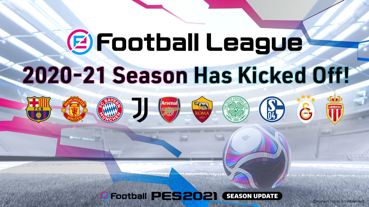 eFootball.League 2020-21 is now open! 🙌  All the details for  and  have now been announced!  Don't miss the out on the competitions!   Head here for more information ➡️    #PES2021 #eFootballPro #eFootballOpen