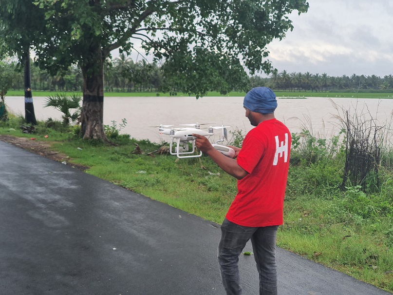 Rapid Response using #drone to assess the impact of ongoing floods caused by #CycloneNivar & #CycloneBurevi  in #Cuddalore #Chennai  #uav #HumanitarianDrones #DronesforGood