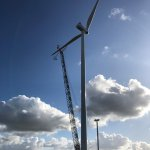 Image for the Tweet beginning: Op windpark Groetpolder zijn vorige