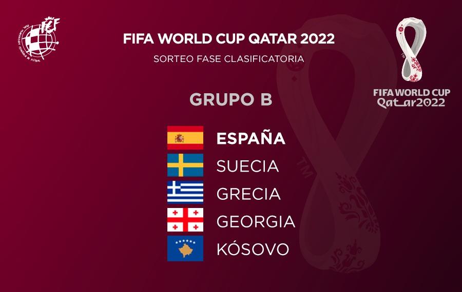 ¡¡¡YA TENEMOS RIVALES!!! 💪🏻  La @SeFutbol queda encuadrada en el Grupo 🅱️ de la fase de clasificación al Mundial de #Catar2022:  🇪🇸 ESPAÑA 🇸🇪 Suecia 🇬🇷 Grecia 🇬🇪 Georgia 🇽🇰 Kosovo  🗓️ Los encuentros se disputarán entre marzo y noviembre de 2021.  #SomosEspaña  #SomosFederación