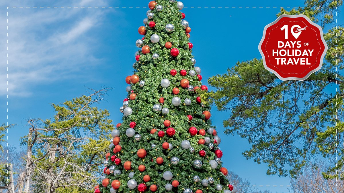 Today is Day 3 of our 10 Days of Holiday Travel and we're virtually visiting Dallas, TX to see the holiday village at the @dallasarboretum. FLY LOCAL to Dallas from MSN and catch this beautiful exhibit.   #10DaysofHolidayTravel #FlyLocal #MSNAirport #Dallas