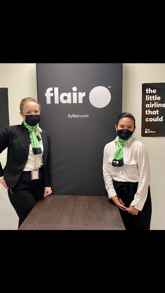 Double happiness!  During these challenging and difficult times I've been gifted with wonderful news! Congratulations @ctourismcollege  Flight Attendant grads Shona and Hannah! Newest team members with @FlairAirlines  #MondayMotivation #mondaythoughts #mondaymorning #edutwitter