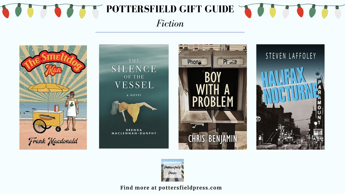 Looking for the perfect gift? Our 2020 Gift Guide has a book for everyone on your list. Find these titles and more at pottersfieldpress.com/fiction
