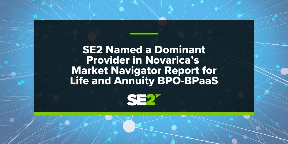 SE2 was featured in the @novarica Market Navigator Report as a dominant provider! Download the SE2 excerpt report: https://t.co/9h2pknHGc0 #LifeInsurance #Annuity #SE2 https://t.co/gpbUVXVZkp