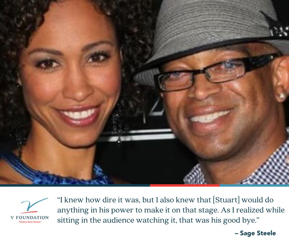 In honor of #VWeek, we talk to @sagesteele on the #VoicesforVictory #podcast. She discusses her friendship with #StuartScott, his 2014 ESPYS speech and the legacy he left behind. And she talks about her dad, who has been diagnosed with #cancer.