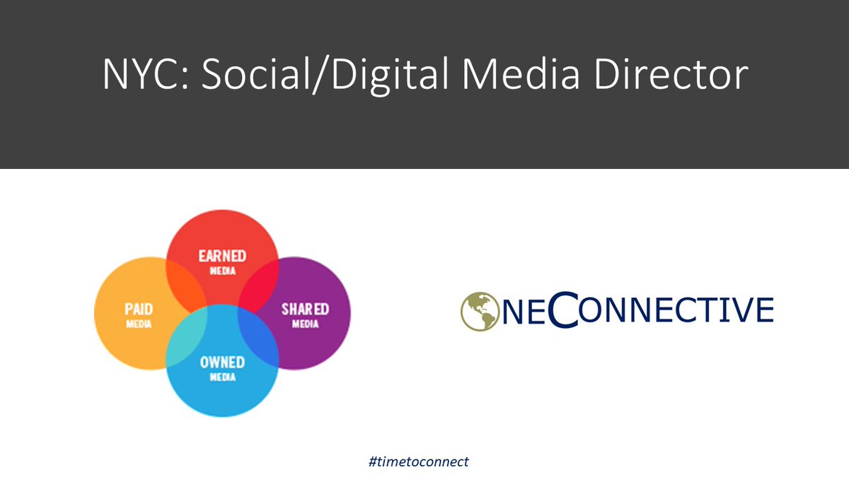 NYC: Looking for a Social/ Digital Media Director for a great Comms/PR/IR agency. Will lead a small team to develop the Social/Digital Practice. #timetoconnect #tuesdaystable #publicrelations #marketing #prjobs #marketingjobs #communications #socialmedia