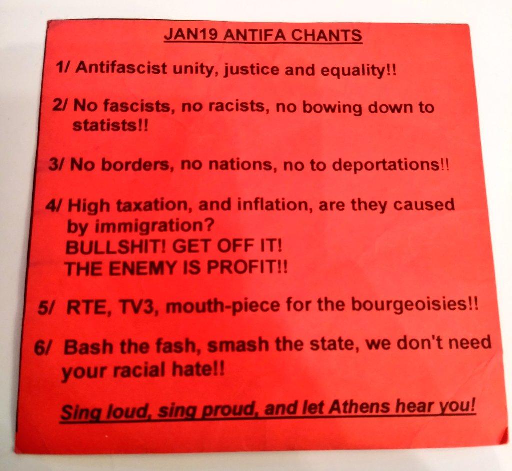 Antifa chants