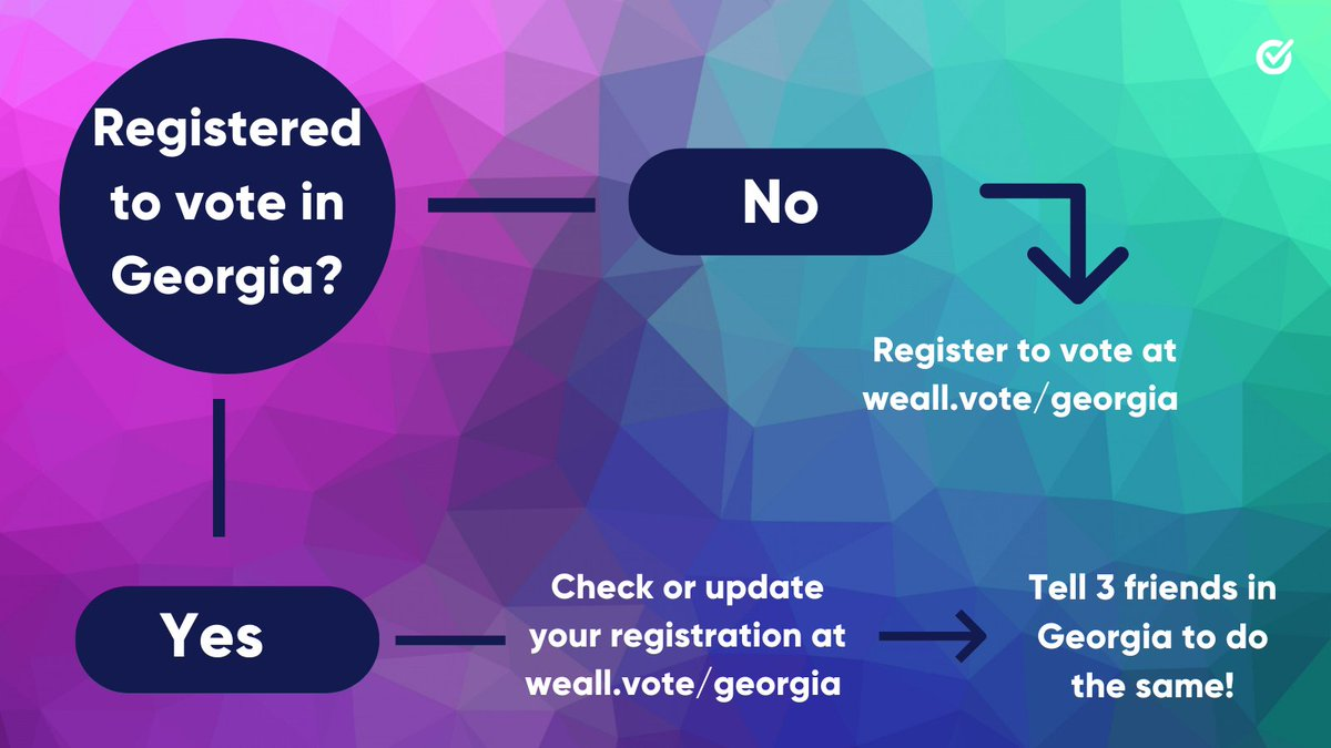 YOU are the best person to get your family, friends, and community #RegisteredAndReady to vote in every election.  Make sure all of the eligible Georgia voters in your life are ready to vote in the upcoming runoff elections →