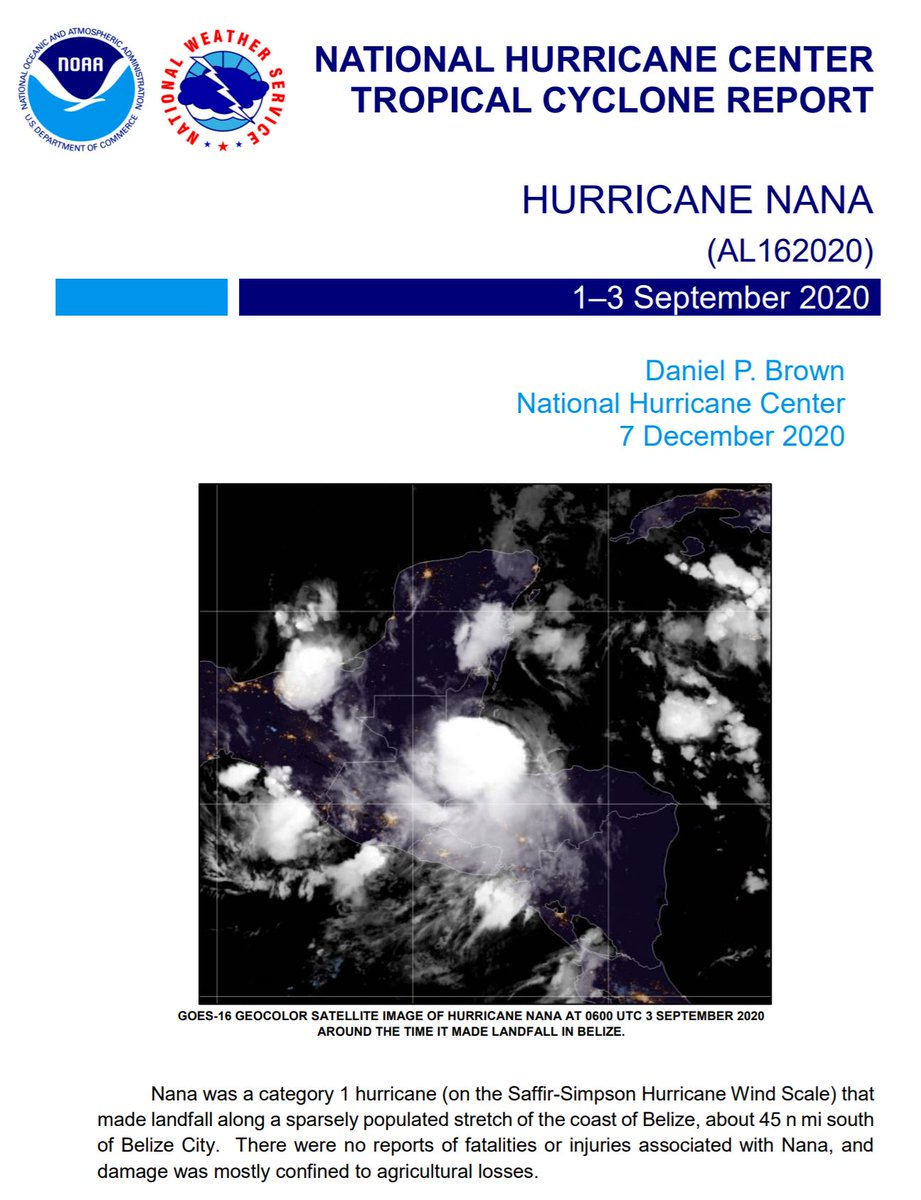The Tropical Cyclone Report for Hurricane #Nana (September 1-3, 2020) has been posted on the NHC website: nhc.noaa.gov/data/tcr/AL162…