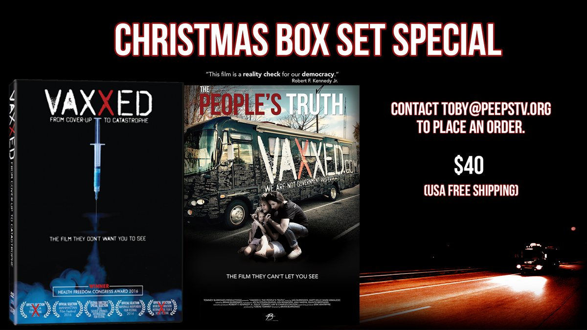 Get your Vaxxed and Vaxxed II DVDs in time for Christmas! FREE shipping inside the US! The perfect gift to educate friends, family or a local doctor!