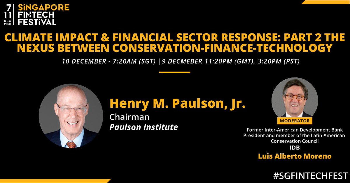 I would like to invite you to a fascinating conversation with Hank Paulson ⁦@PaulsonInst⁩ on this coming Wednesday Dec 9th. #fintech https://t.co/wICeDHmm9Q