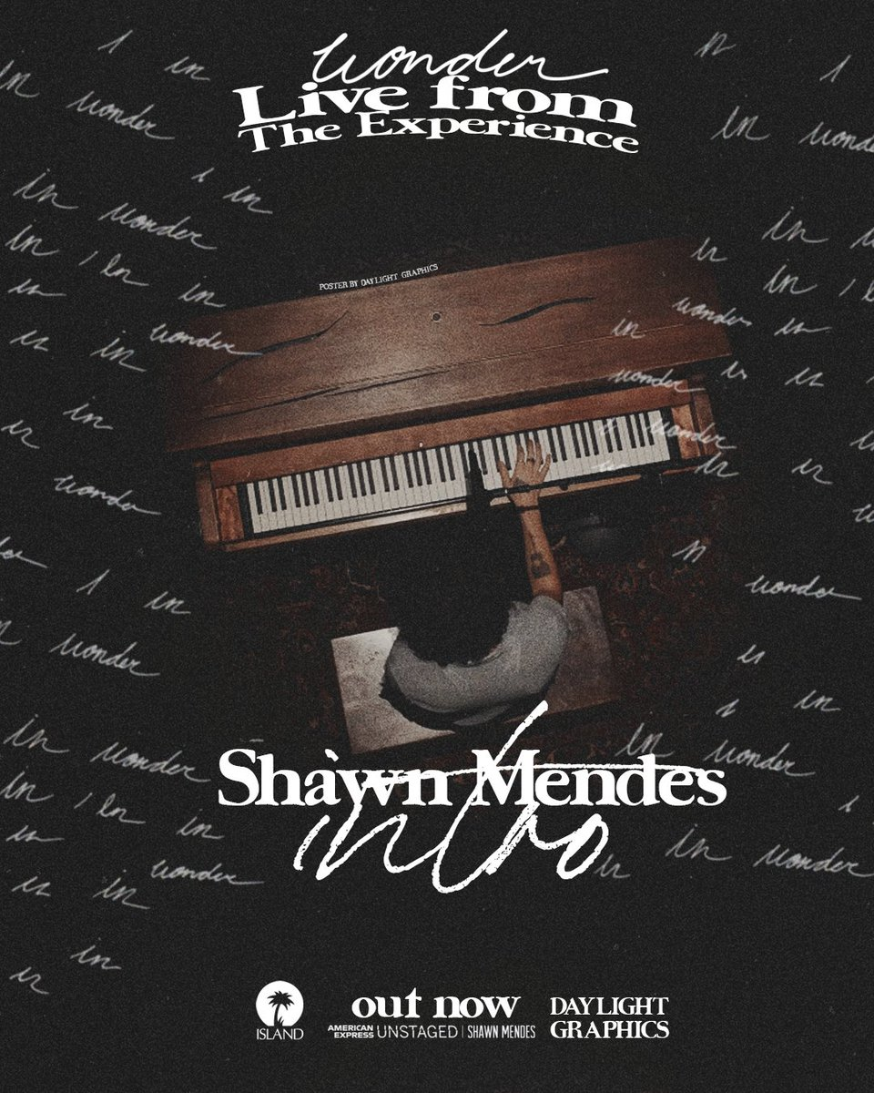 shawn mendes - (live from wonder: the experience) [concept poster] #WONDER @ShawnMendes