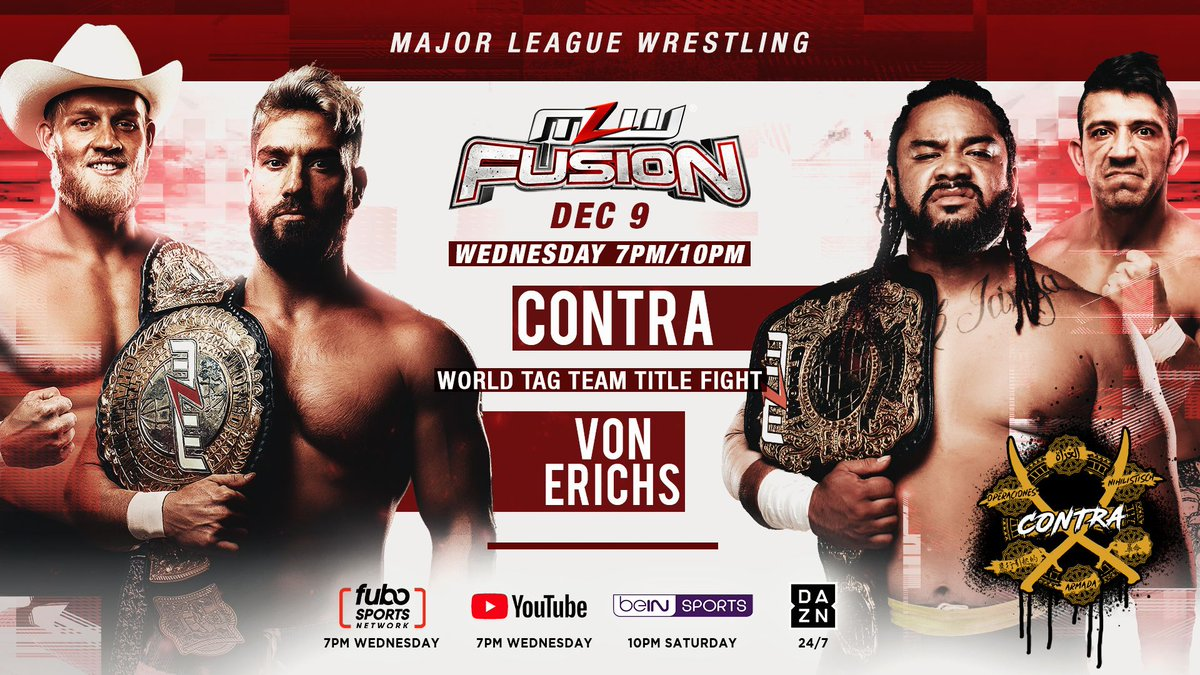 MLW Fusion Preview (12/9): The Von Erichs Defend Tag Team Titles, Opera Cup Tournament Continues
