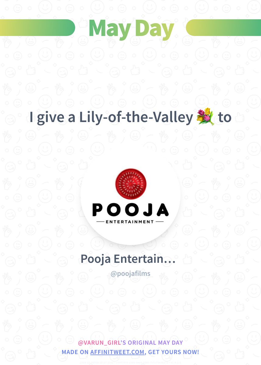 ✨ May Day  poojafilms, I give you my best bouquet of lily-of-the-valley! 💐 To whom will you give yours?  ➡️